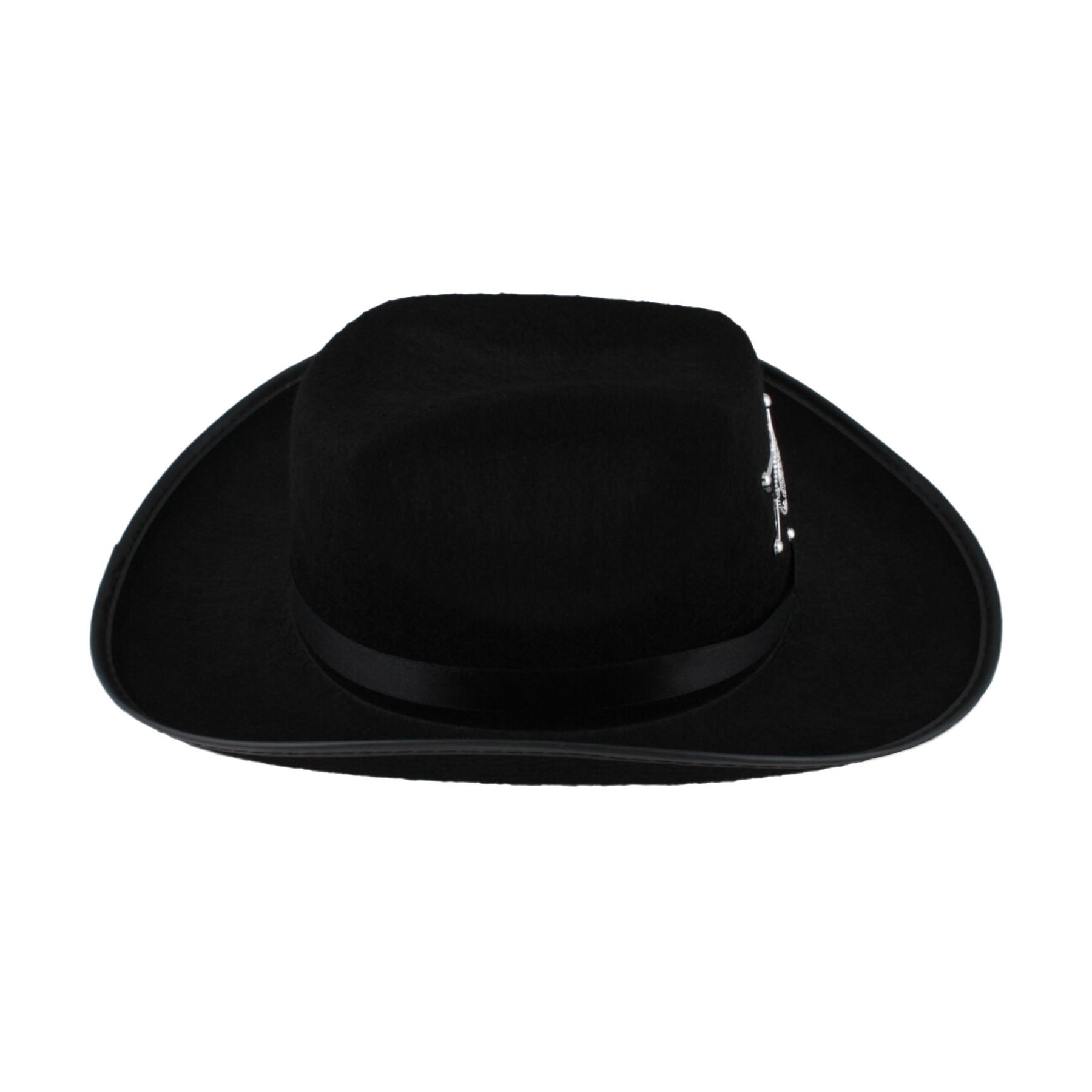 Más vistas. Sombrero vaquero sheriff negro ... be1f5b651fb