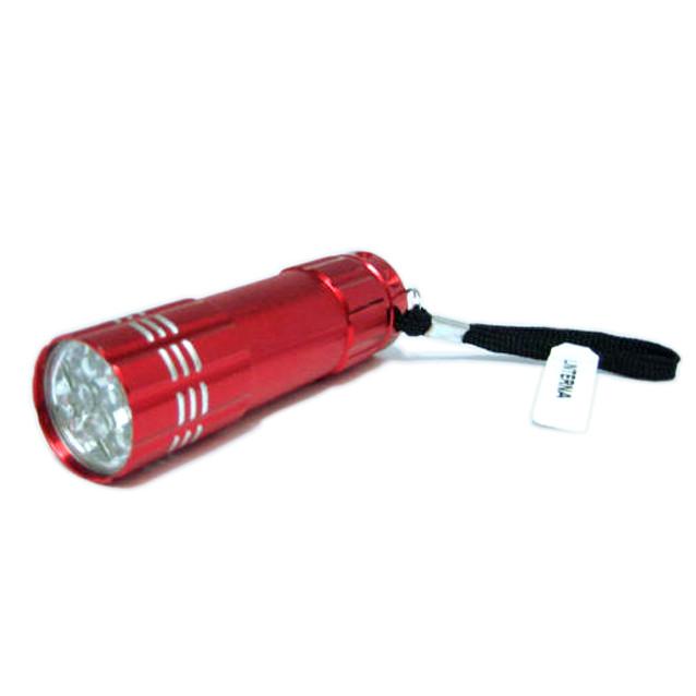 Linterna 9 leds aluminio color