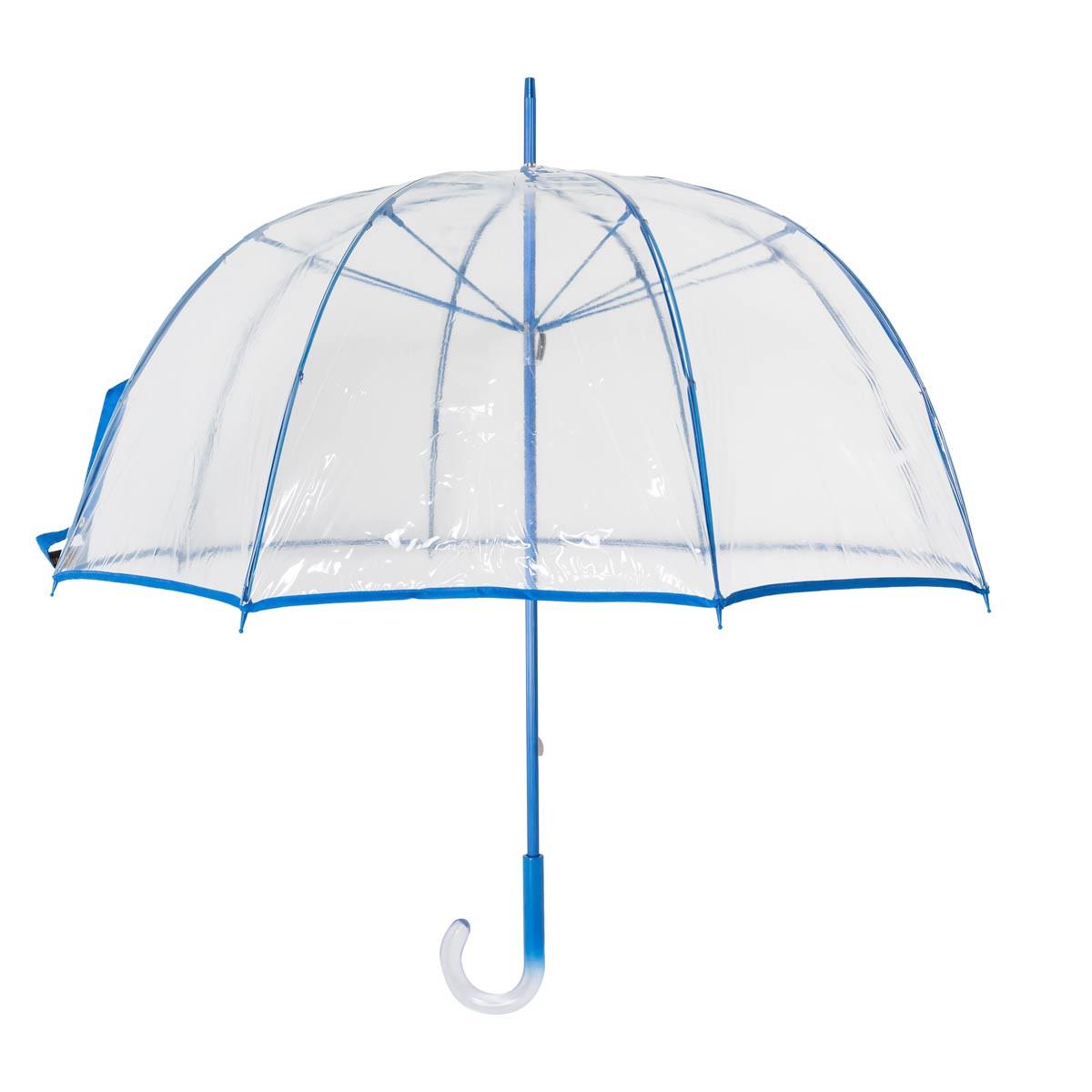 Paraguas cúpula transparente 3656 azul