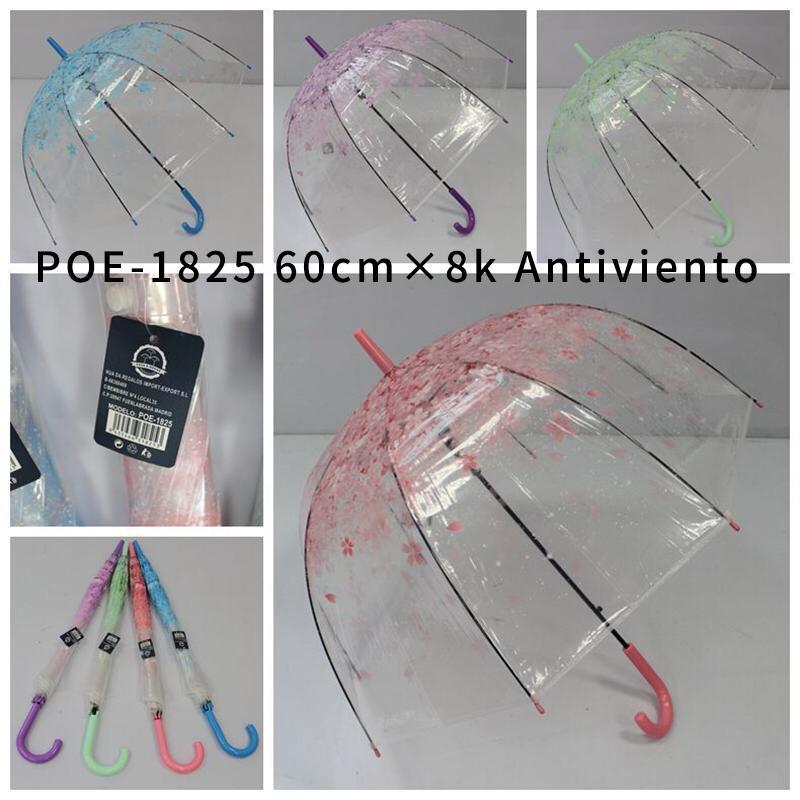 Paraguas automatico transparente POE-1825
