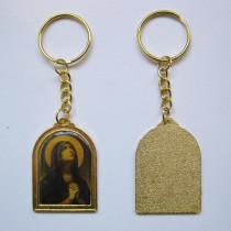 Llavero de metal con imagen santo