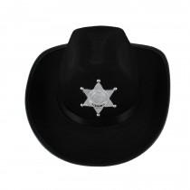 Sombrero vaquero sheriff negro