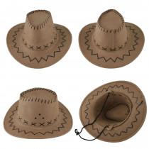 Sombrero vaquero pequeño marrón claro