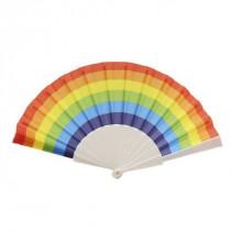 Abanico arcoíris plástico