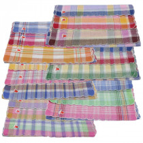 Set 10 pañuelos mujer cuadro