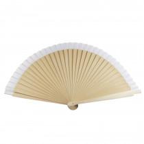 Abanico madera liso 23 cm-blanco