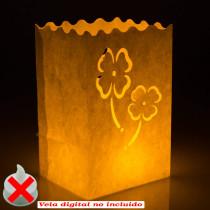 Bolsa de luz trebol con vela