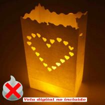 Bolsa de luz grande 20 corazon