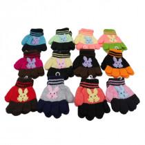 Set 12 guantes infantil con figura conejo