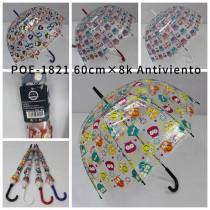 Paraguas automatico transparente POE-1821