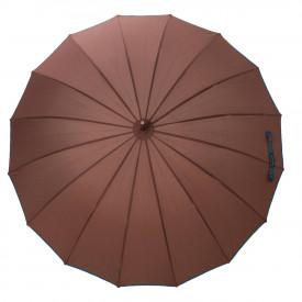 Paraguas antiviento liso 3415 marron