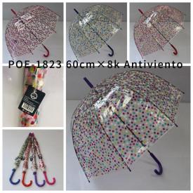 Paraguas automatico transparente POE-1823