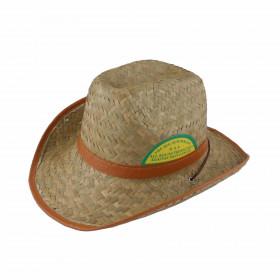 Sombrero de paja borde polipiel