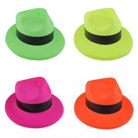 Sombrero gánster plástico color