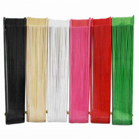 Abanico madera calado colores 23 cm