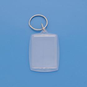 Llavero acrílico transparente 32 x 46 mm