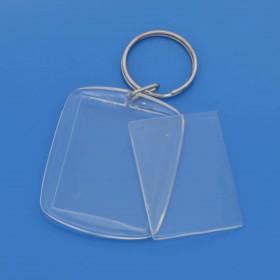 Llavero acrílico transparente 30 x 40 mm