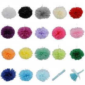 Pompones de papel seda 20 cm